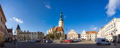 塔博尔 cesky捷克krumlov中世纪老共和国城镇视图 库存照片