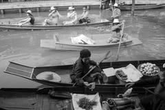 塔卡浮动市场 免版税图库摄影