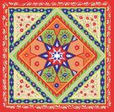 塔吉克农民样式方巾设计 库存图片