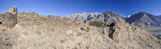 塔吉克斯坦全景 库存照片