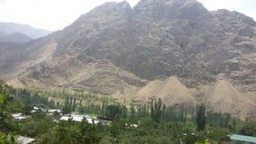 塔吉克斯坦山  库存照片