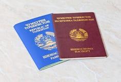 塔吉克斯坦护照 免版税库存图片