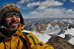 塔吉克斯坦的登山家 库存图片