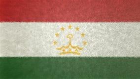 塔吉克斯坦3D的原始的旗子图象 库存例证