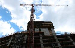 塔吊建筑 免版税库存图片