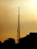 塔和大厦剪影 免版税图库摄影