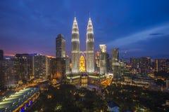 塔和大厦都市风景在吉隆坡市 库存照片