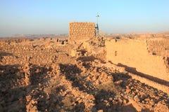 塔和库房复杂在马萨达 库存图片