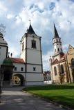 塔和老教会在Levoca 库存图片
