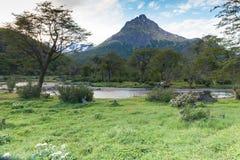 巴塔哥尼亚人的风景乌斯怀亚 免版税库存图片