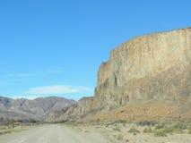 巴塔哥尼亚峡谷  库存照片