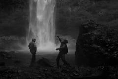 巴塔哥尼亚瀑布 免版税库存照片