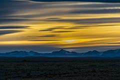巴塔哥尼亚风景日落场面,阿根廷 库存照片