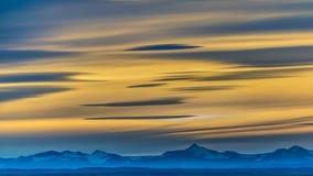 巴塔哥尼亚风景日落场面,阿根廷 免版税库存照片