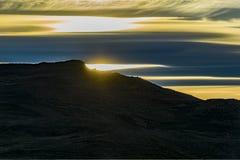 巴塔哥尼亚风景日落场面,阿根廷 库存图片