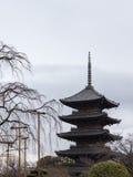 塔在京都 免版税图库摄影