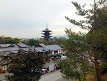 塔在京都 库存图片