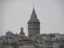 塔在伊斯坦布尔 库存照片