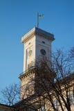 塔在利沃夫州市 免版税库存照片