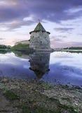 塔在古城 免版税图库摄影