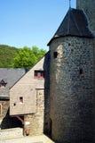 塔在城堡阿尔特纳的庭院里 库存照片