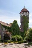 水塔在城市Rauschen 图库摄影