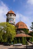 水塔在城市Rauschen 库存图片