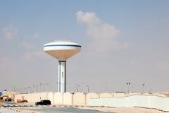 水塔在多哈,卡塔尔 库存图片
