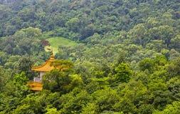 塔在森林里在广州 免版税库存图片