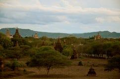 塔在缅甸的Bagan考古学区域 免版税库存图片