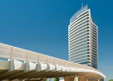 水塔在萨瓦格萨西班牙 免版税库存照片