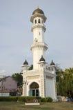 塔在Kapitan Keling清真寺庭院里  免版税库存图片