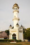 塔在Kapitan Keling清真寺庭院里  库存图片
