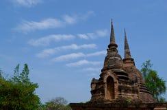 塔在Sukhothai历史国家公园, Tha 免版税库存图片