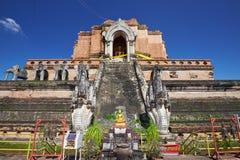 塔在Wat Chedi Luang在清迈 库存图片