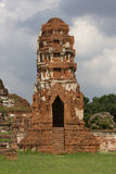 塔在Wat Mahathat 免版税库存图片