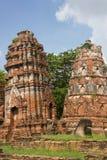 塔在Wat Mahathat 免版税库存照片