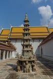 塔在Wat Pho Kaew,曼谷,泰国 库存图片