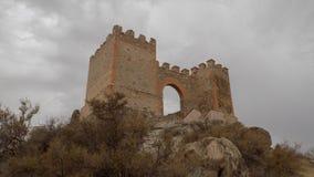 塔宾斯沙漠自行车赛城堡阿尔梅里雅安大路西亚西班牙 库存图片