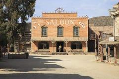 塔宾斯沙漠自行车赛沙漠,阿尔梅里雅安大路西亚/西班牙- 2011年9月18日: 免版税库存图片