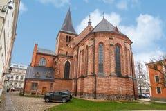 塔尔图圣约翰教会 库存图片