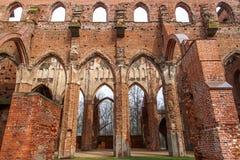 塔尔图大教堂废墟 免版税库存照片