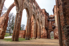 塔尔图大教堂废墟 免版税库存图片