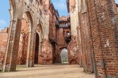 塔尔图大教堂废墟 图库摄影