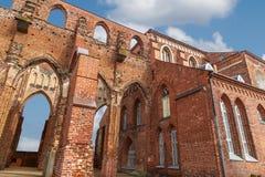 塔尔图大教堂废墟 库存图片