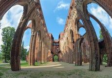 塔尔图大教堂,爱沙尼亚废墟  库存图片