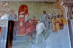塔尔奎尼亚壁画室 免版税库存图片