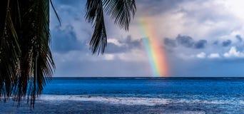 塔希提岛彩虹 免版税库存图片
