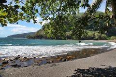 塔希提岛海滩,塔希提岛,塔希提岛,法属波利尼西亚,接近博拉博拉岛 库存图片