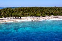 塔希提岛海滩 免版税库存图片